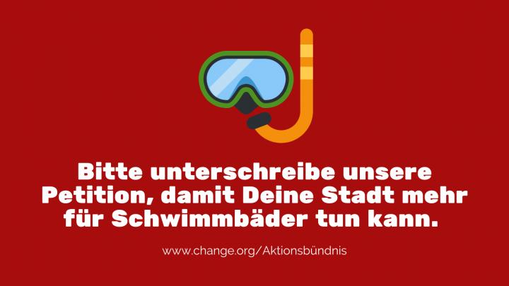 """Das Aktionsbündnis """"Für die Würde unserer Städte"""" setzt sich für eine gerechte Finanzverteilung ein, unter anderem um mehr für Schwimmbäder tun zu können."""